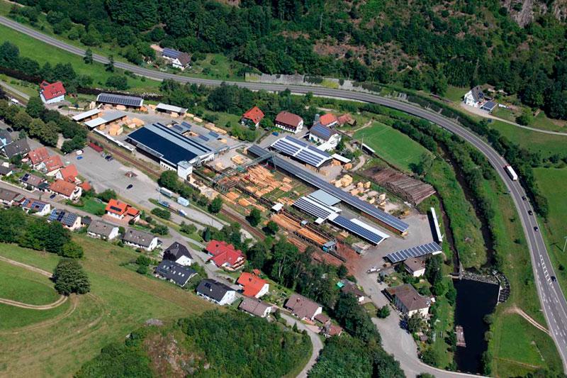 Sägewerk mit Lager im Schwarzwald